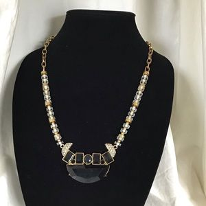 J. Crew Crystal Lucite Long Statement Necklace
